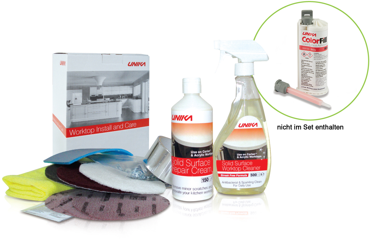 Solid Surface & Composite Install Kit